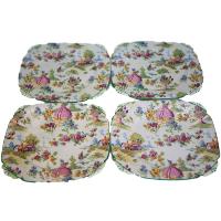 Dancing Lady Dessert Plates