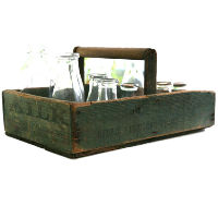 Green Milk Box with Handle