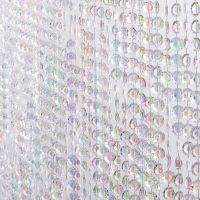 3' Wide x 11' Long Jewel Acrylic Crystal Iridescent Diamond Cut Curtains
