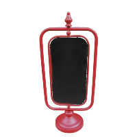 Double Sided Red Chalkboard Stand