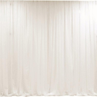 Ivory Sheer Organza - Classic Gathered Curtain Backdrop Service