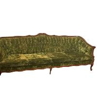 Olive Green Velvet Sofa