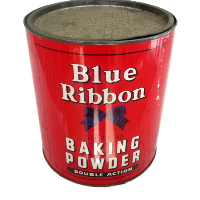 Vintage Blue Ribbon Baking Powder Tin