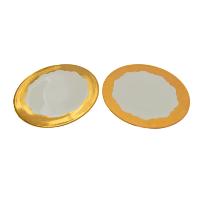Gold Rimmed Serving Plates
