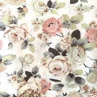 Peony Floral Cotton Napkins
