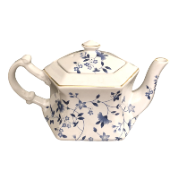 Vintage Blue and White Tea Pot