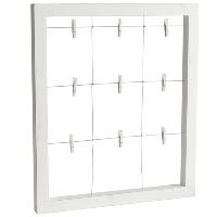 White Clothespin Picture Boards