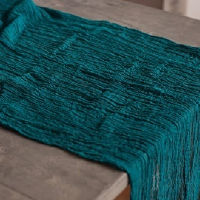 Teal Cheesecloth Table Runners - 16'