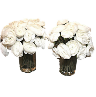 White Rose Flower Vases