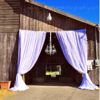 Barn Entrance Curtains - Decorating Service