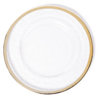 The Head Table Collection: Gold Rim Band Glass Charger Plates