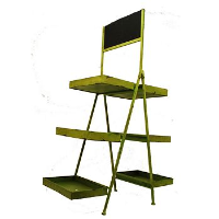 Green Stand with Chalkboard