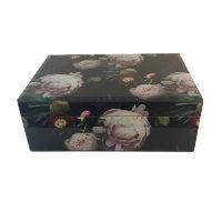 Black Floral Envelope Box