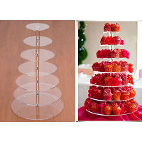Tall Acrylic Cupcake Stand - 7 Tier