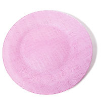 Pink Glass Charger Plates