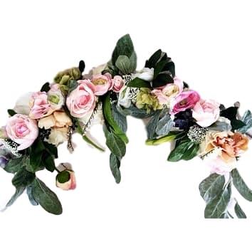 """6'  """"Romantic"""" Faux Floral Garland"""