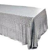 Silver Sequin Banquet Tablecloths