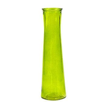 """Bright Green"" Cylinder Vases"