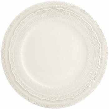 Ivory Lace Charger Plates  - Ceramic