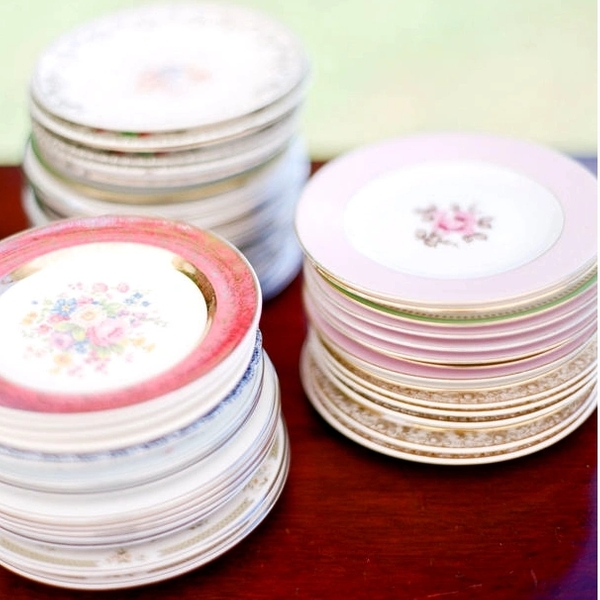 Vintage China Bread and Butter Plates - Mixed Styles