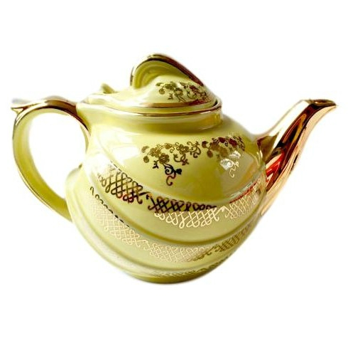 Vintage Lemon Chiffon Teapot