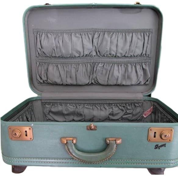 Blue/Green Vintage Suitcase