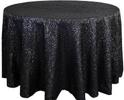 """120"""" Black Round Sequin Tablecloths"""