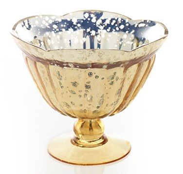 Caraway Gold Glass Compote Vases