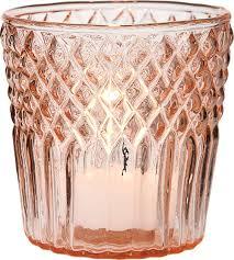 Pink Diamond Top Tea Light Holders