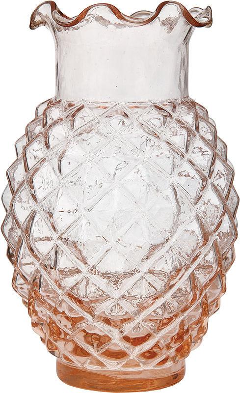 Ruffled Pineapple Vases