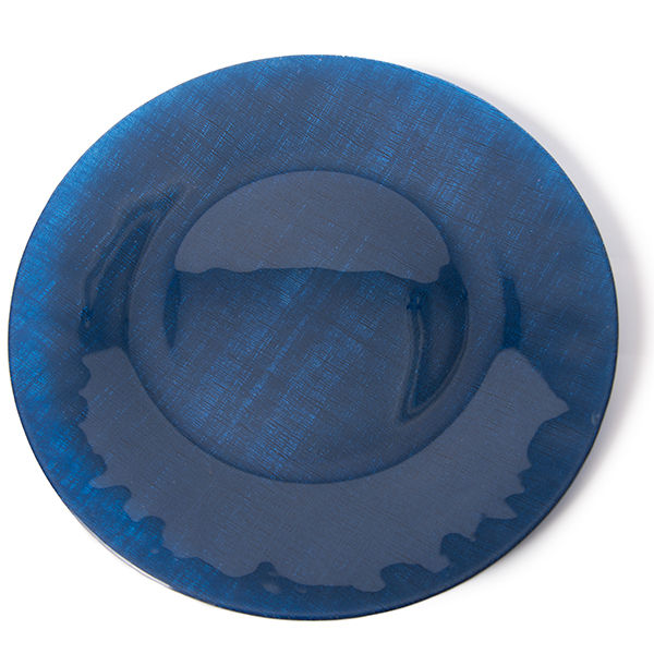 Navy Blue Glass Charger Plates