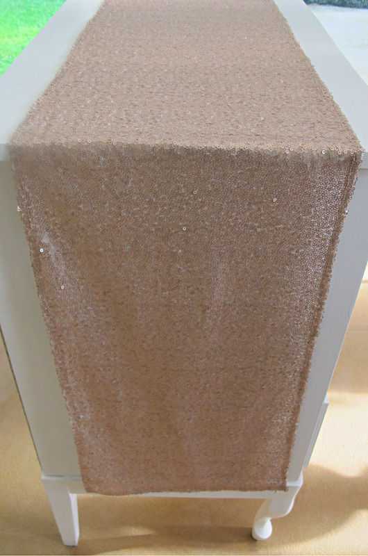 Nude Champagne Sequin Runners - 9'
