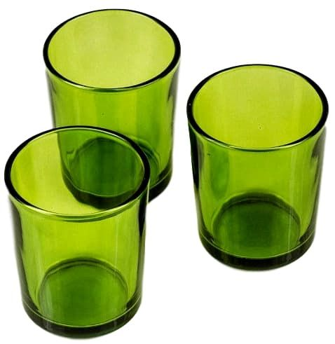 """""""West Coast"""" Green Candle Holders"""