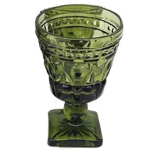 Green Goblets - Mixed Patterns