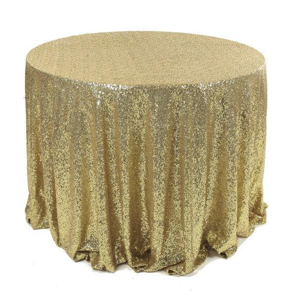 Light Gold Sequin Tablecloths