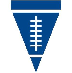 Blue & White Football Pendant