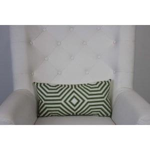 Adley - White Green Oblong Pillow