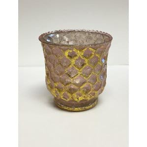 Sierra - Pink Gold Fluted Votive