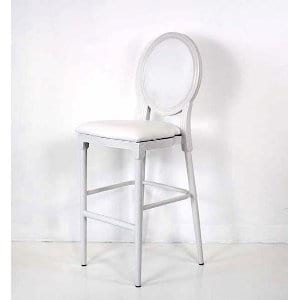 Madelyn - Bar Stool with White Cushions
