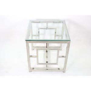 Savannah - Chrome Glass Side Table