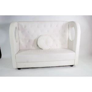 Melissa - White Tufted Sofa
