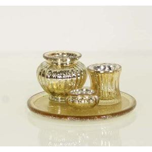 Maurie - Gold Votive Set