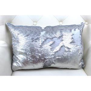 Luann - Silver Sequin OblongPillow