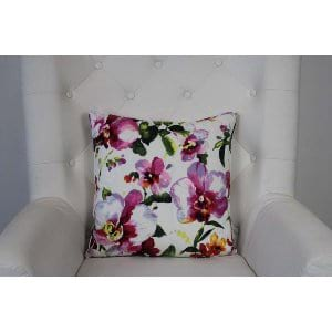 Danica - Pink Purple Floral Pillow