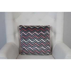 Calla - Pink Grey Chevron Pillow