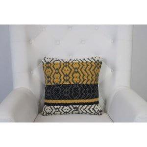 Avianna - Yellow Grey Black Woven PIllow