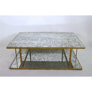 Lynnie - Gold Mirror Coffee Table