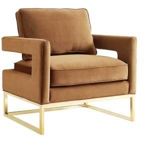 Flo - Cognac Velvet Chair
