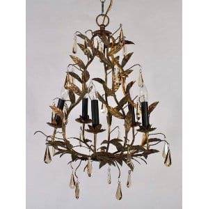 Daryll - Gold Leaf Chandelier