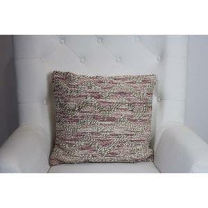 Hensely - PInk Beige Woven Pillow